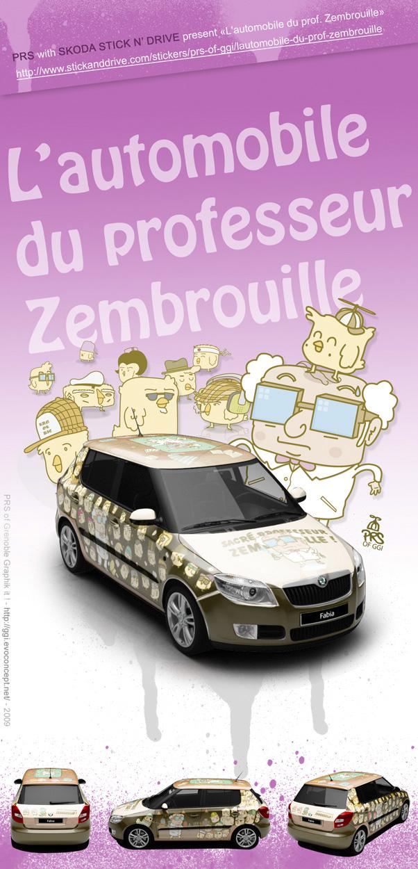 Skoda X PRS - Voiture DR. Zembrouille - Stick n drive