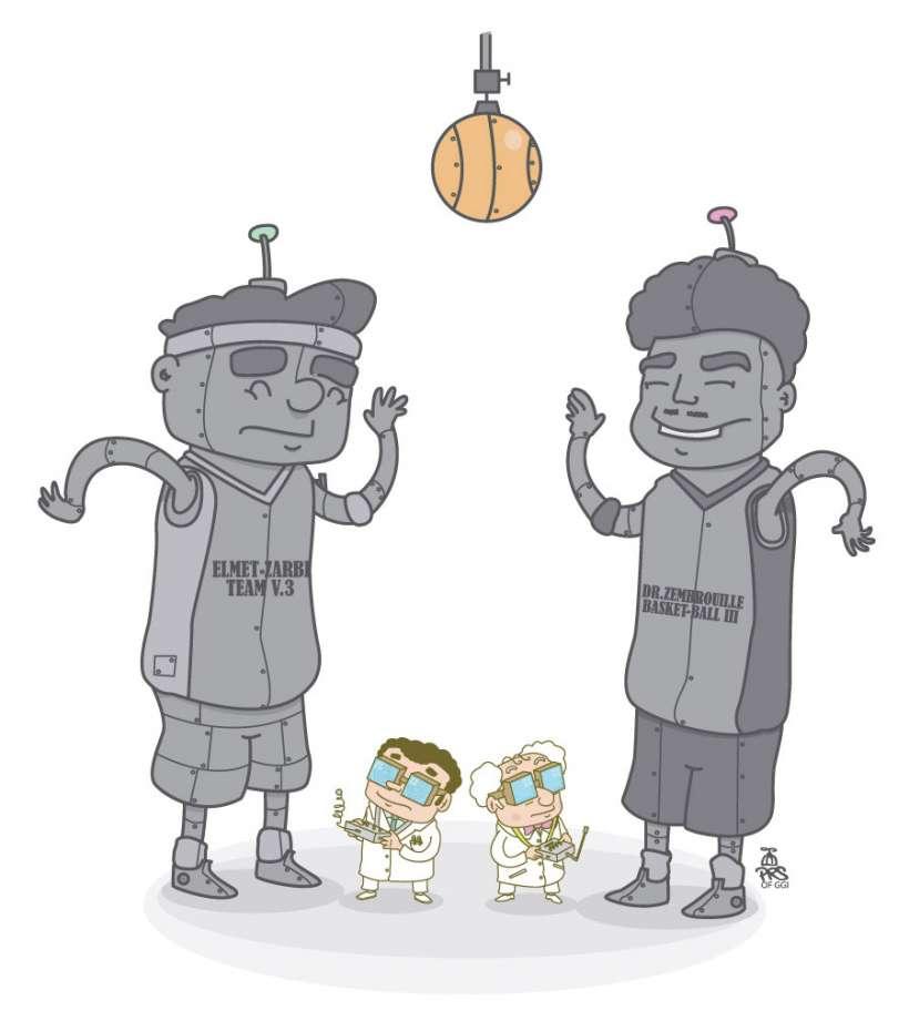 Comic strip - Dr Zembrouille VS professeur Elmet Zarby by PRS of GGI (B.Boukagne)